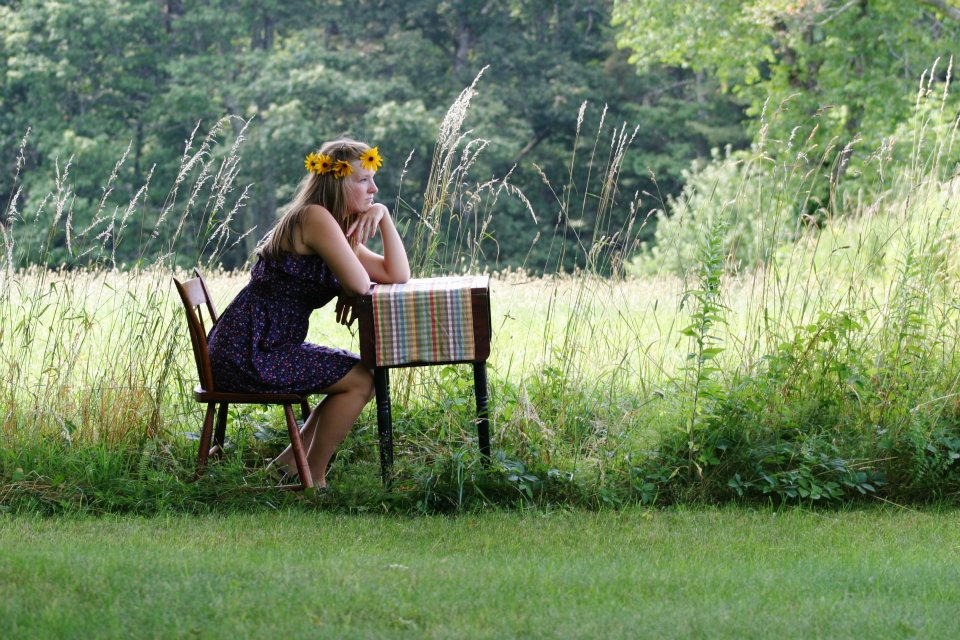 Emily Jillson posing for Kate in a staged photo, Petersham, MA, Summer 2012. Photo courtesy of Kate Tattan