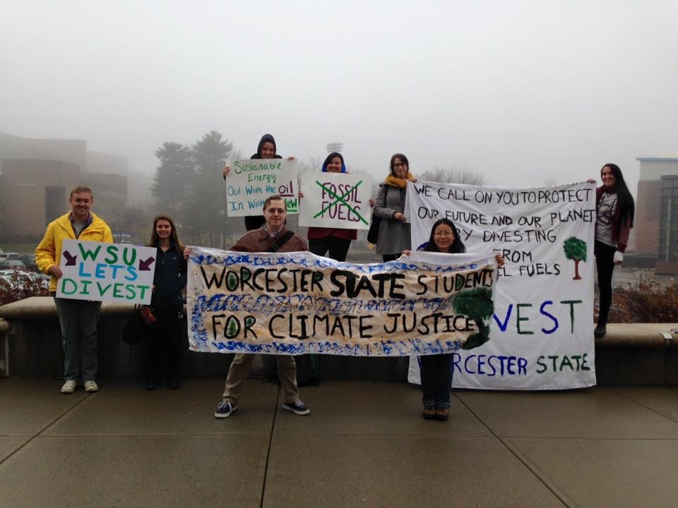 WSU students protest for climate change.